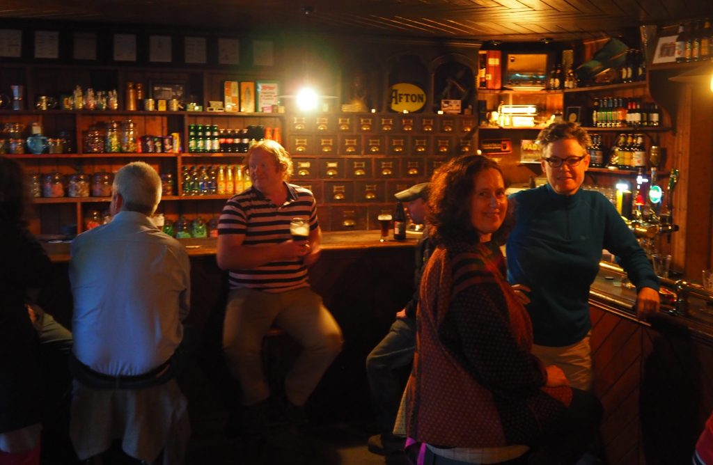Enjoying a pint of Guinness at Osborne's