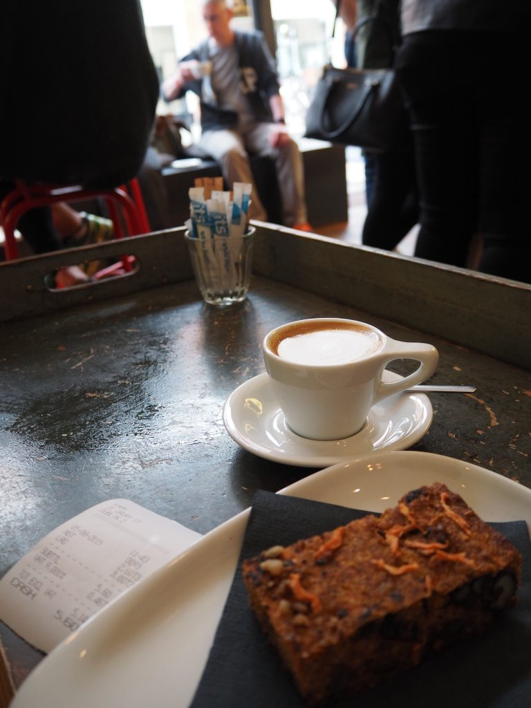 It's a noisette and some kind of gluten-free carrot cake.