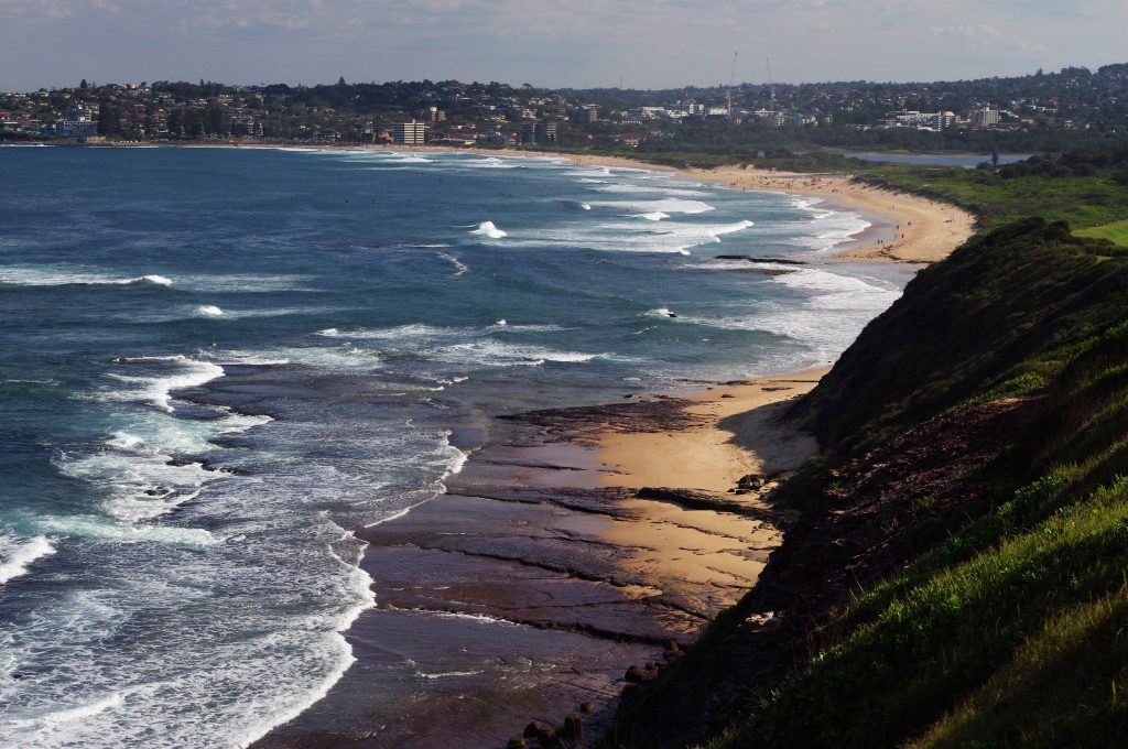 Looking south from Long Reef point to Long Reef Beach and Dee Why beyond
