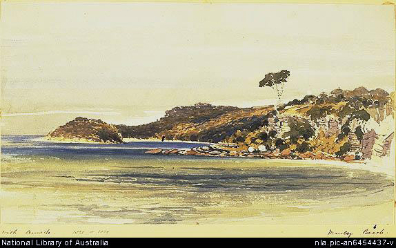 Manly Beach c 1868 by George Penkivil Slade