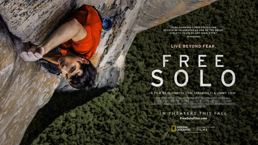 Free Solo – 4.5 out of 5 (Film 8 of 2019)